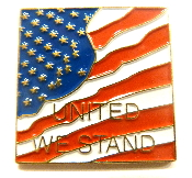 USA United We Stand Lapel Pin